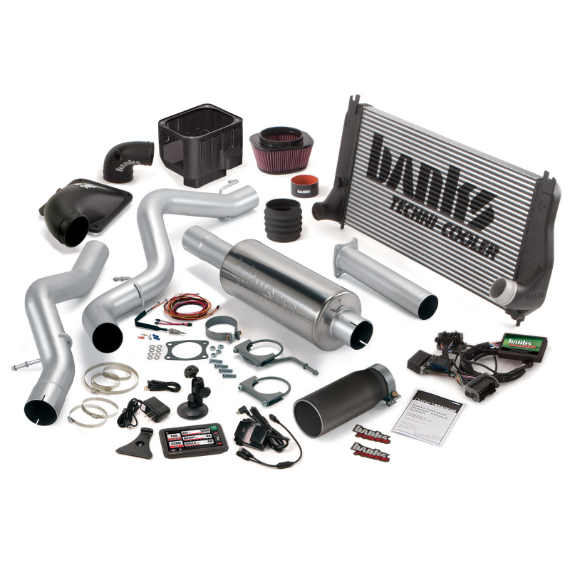 Banks Power 06-07 Chevy 6.6L LLY-LBZ ECSB PowerPack System - SS Single Exhaust w/ Black Tip