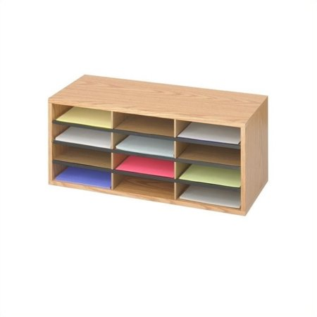 Scranton & Co Medium Oak Wood/Corrugated 12 Compartment Mail Organizer - image 1 de 1