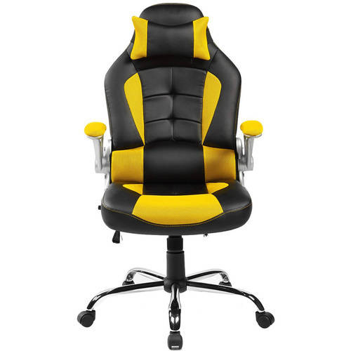merax ergonomic high-back racing style office chair for reclining