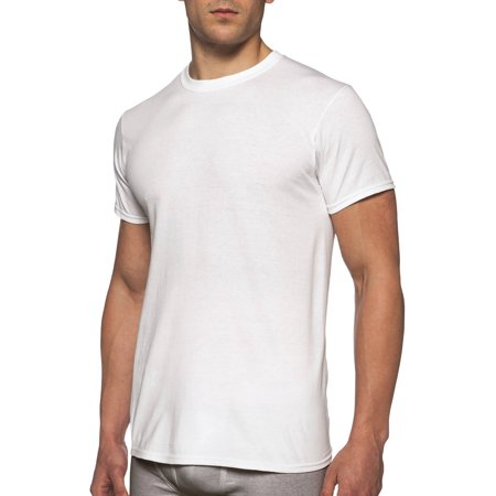 Gildan Men's Short Sleeve Crew White T-Shirt, 6-Pack