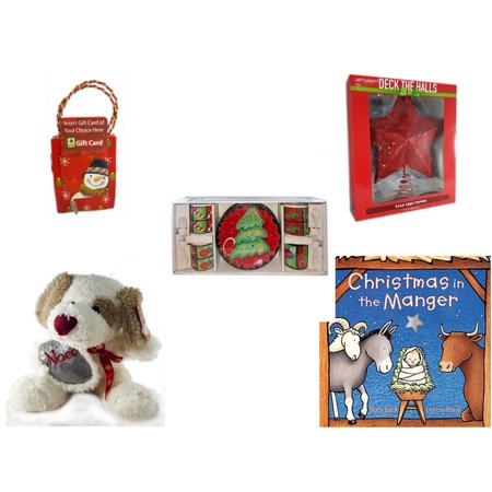 christmas fun gift bundle 5 piece musical gift card holder snowman deck