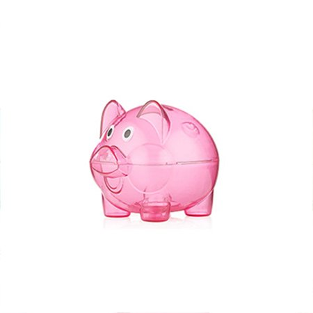 Transparent Plastic Money Saving Box Case Coins Piggy Bank Cartoon Pig Shaped - Piggy Banks Plastic