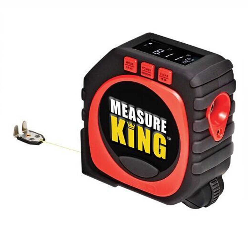 3-in-1 Accurate Laser Measuring Tape with LED Display Roller Wheel Measure Tool Color:black