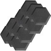 "12 Pack Hexagon (Hexagonal) Acoustic Foam Studio Soundproofing Foam Tiles 6"" X 6"" X 1"" Charcoal Art Decor Noise Reduction"