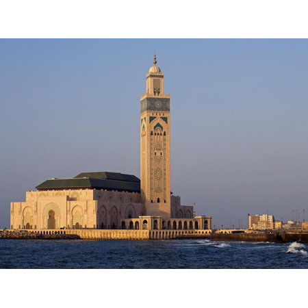Hassan Ii Mosque in Casablanca, the Third Largest in World after Those at Mecca and Medina, Morocco Print Wall Art By Julian Love - Julian Casablancas Halloween