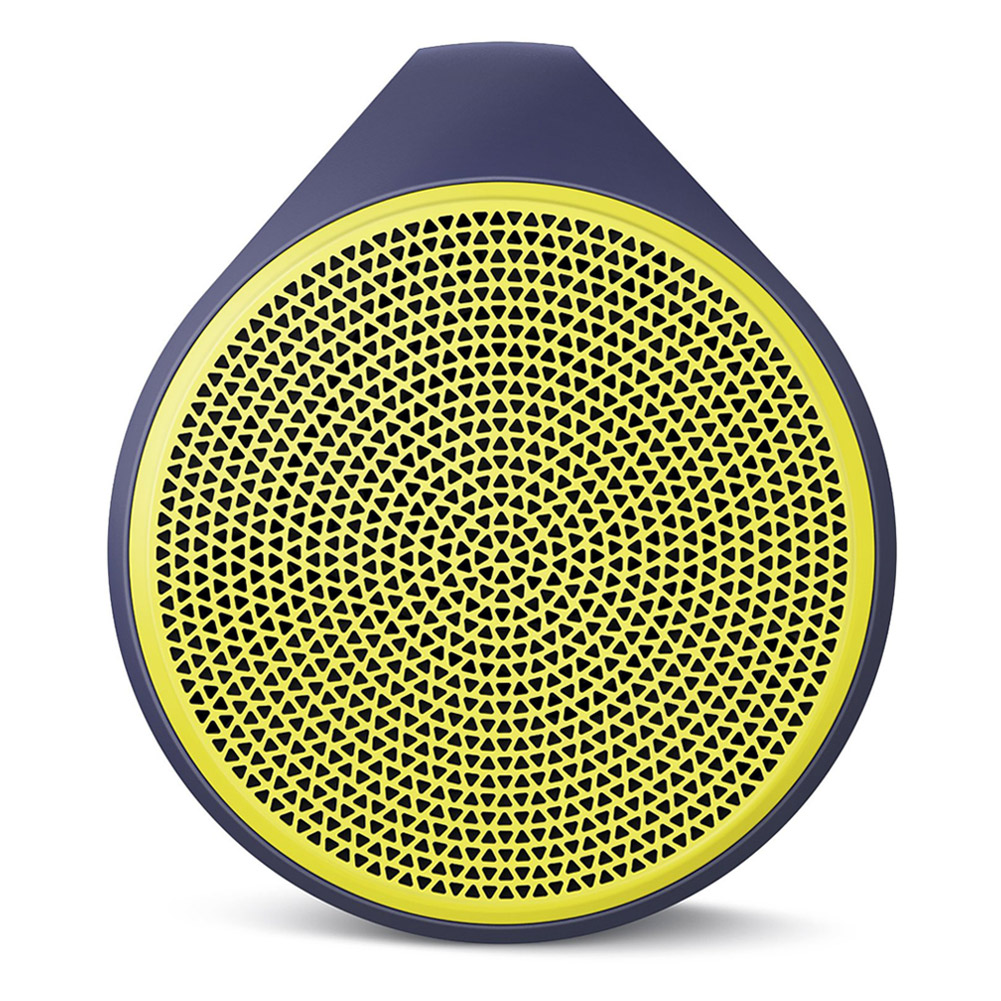 Logitech X100 Mobile Bluetooth Wireless Speaker, Yellow/Blue