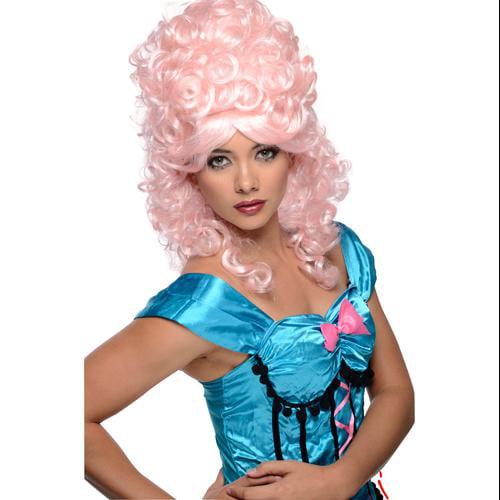 Womens Pink  Burlesque Halloween Costume Wig