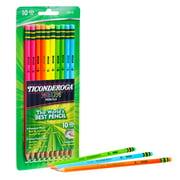 Ticonderoga Neon No 2 Pencils, Pre Sharpened Pencil, 10 Ct