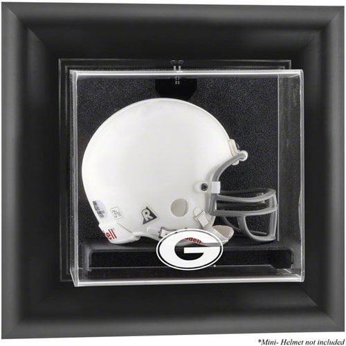 NCAA - Georgia Bulldogs Framed Wall Mounted Logo Mini Helmet Display Case