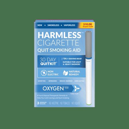 Harmless Cigarette, Oxygen, Nicorette Alternative & Quit Smoking Aid, 3pk Discount Marlboro Cigarettes