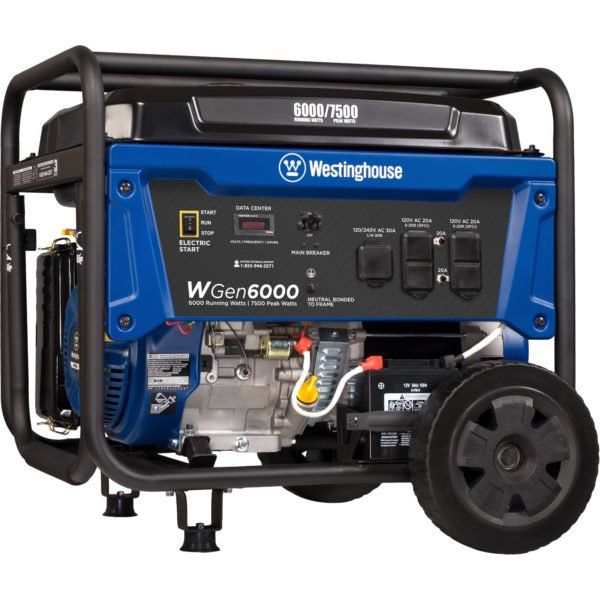 westinghouse golf cart wiring diagram westinghouse wgen6000 portable generator with electric start  portable generator with electric start