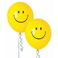 Smiley Face Latex Balloons, 50pk