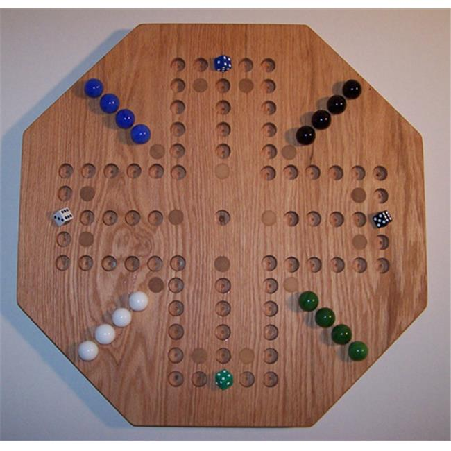 Charlies Woodshop W-1939alt.-3 Wooden Marble Game Board Red Oak by Charlies Woodshop