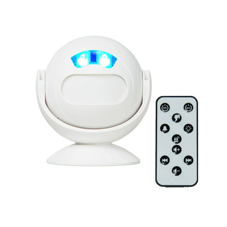GREENCYCLE PIR Motion Sensor Doorbell Motion Sensor Security Alarm/Doorbell/Alert, Home Security Driveway Alarm, Store Welcome Entry Chime, Infrared Sense Distance 4-5m with Remote Control