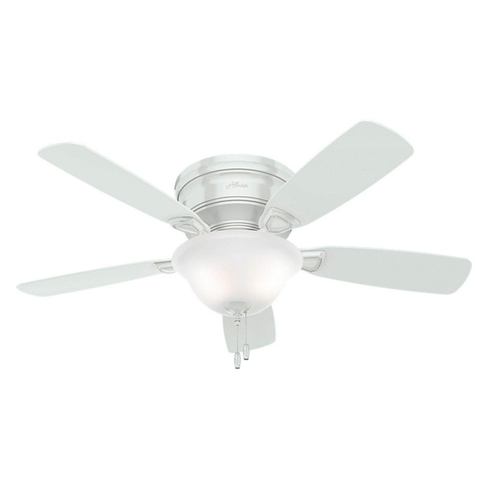 Hunter Low Profile 48 In. Indoor Ceiling Fan   White