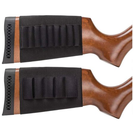 Shotgun & Rifle 2pc Butt Stock Ammo Holder Bullet Gun Sleeve Shell Hunting Pouch