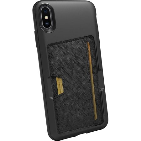 Smartish iPhone Xs Max Wallet Case - Wallet Slayer Vol. 2 [Slim Protective Kickstand] Credit Card Holder for Apple iPhone 10S Max (Smartish) - Black Tie Affair