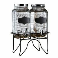 Style Setter Blackboard Glass Beverage Dispenser