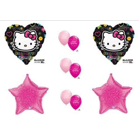 HELLO KITTY BIRTHDAY PARTY Balloons Decorations Supplies pink and black by Anagram - Party City Hello Kitty Decorations