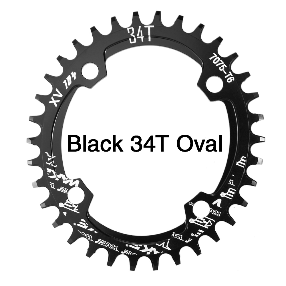UPANBIKE Bike Bicycle Narrow Wide Oval Single Chainring BCD 104mm 32T 34T 36T 38T