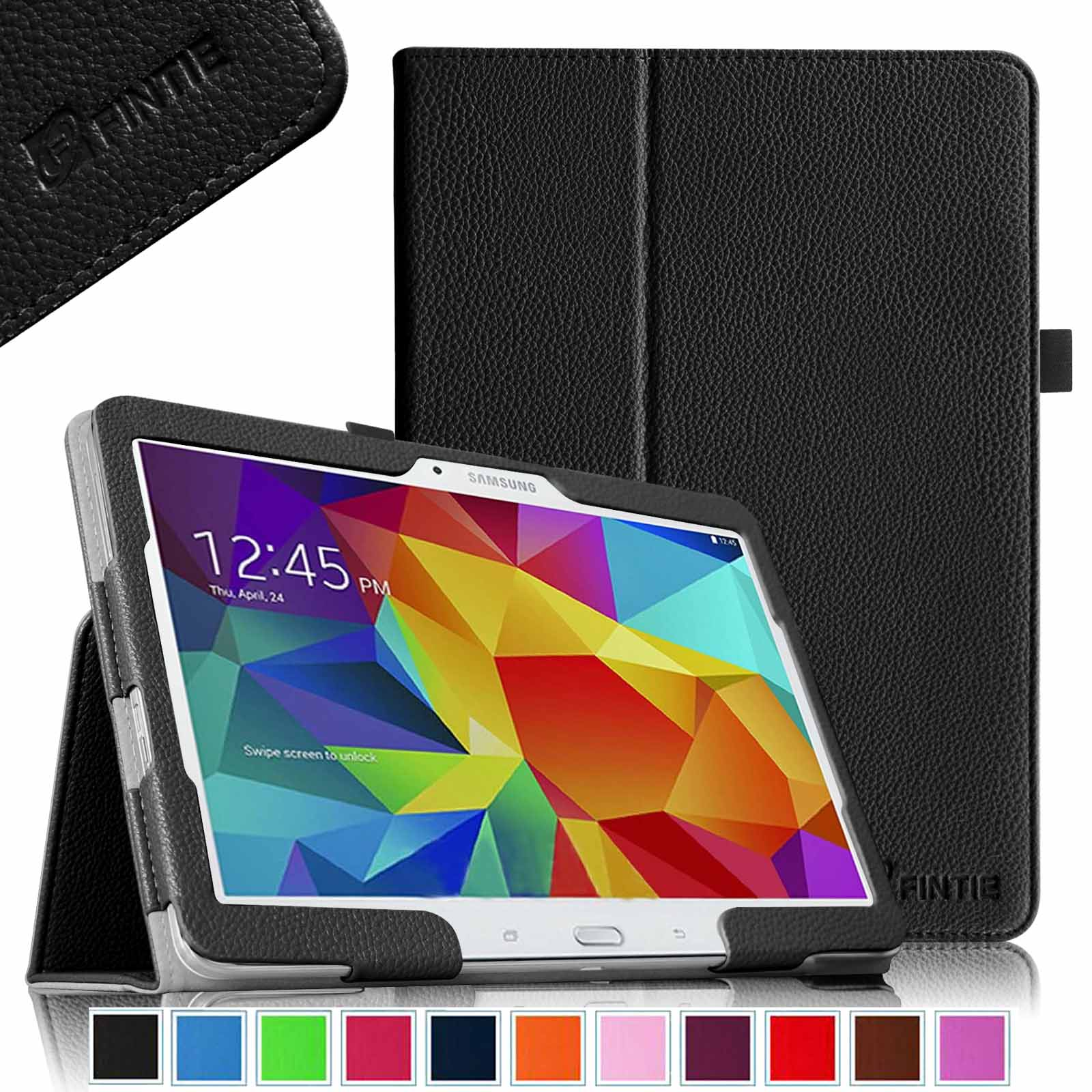 Fintie Samsung Galaxy Tab 4 10.1 / Tab 4 Nook 10.1 Folio Case - Slim Fit PU Leather Cover with Auto Sleep/Wake, Black