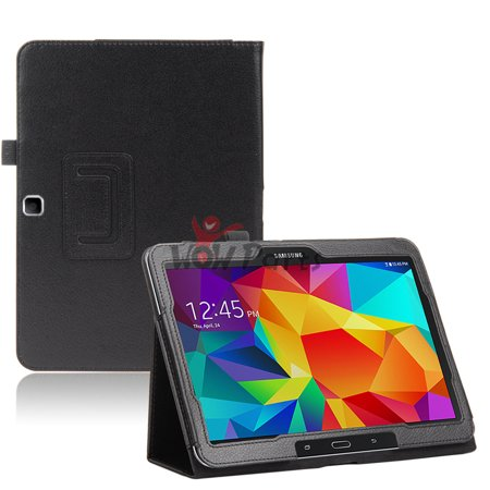 TSV PU Leather Folio Case Stand Cover For Samsung Galaxy Tab 4 10.1