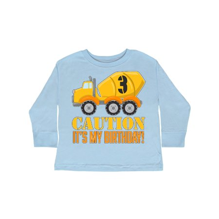 3rd Long Sleeve (3rd birthday construction truck, cement mixer - 3 years old Toddler Long Sleeve T-Shirt)