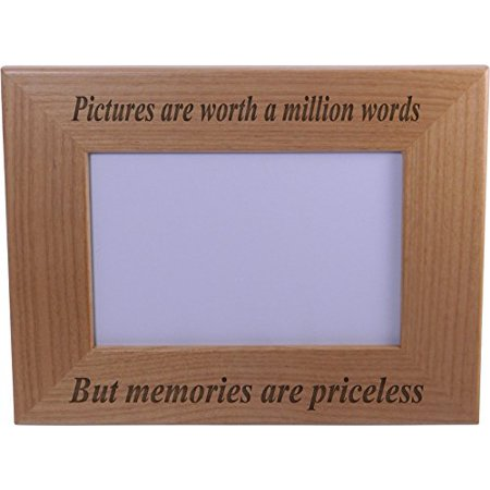 Memories Are Priceless Wood Picture Frame Holds 4x6 Inch