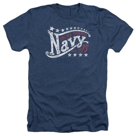 US Navy Stars Mens Heather (Adult Navy S/s T-shirt)