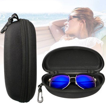 TSV Zipper Eye Glasses Sunglasses Hard Case Storage Box Holder Portable (Guess Glasses Case)