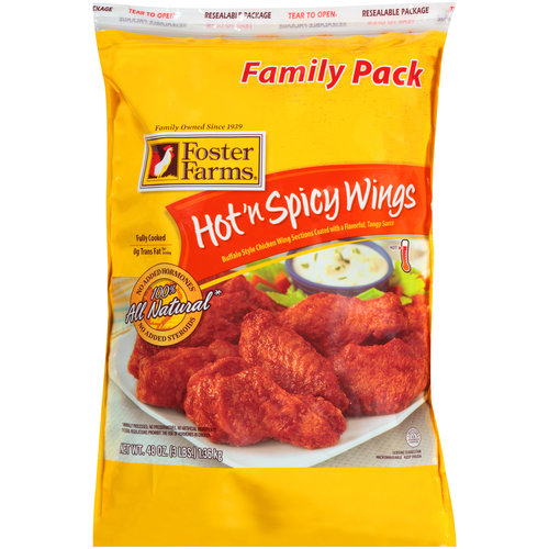Foster Farms Hot 'n Spicy Chicken Wings, 48 oz