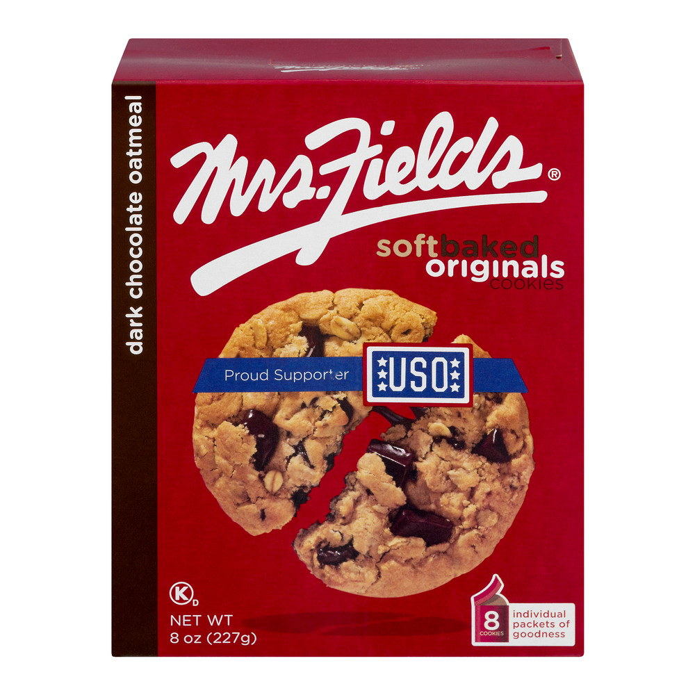 Mrs. Fields Soft Baked Originals Cookies Dark Chocolate Oatmeal - 8 CT