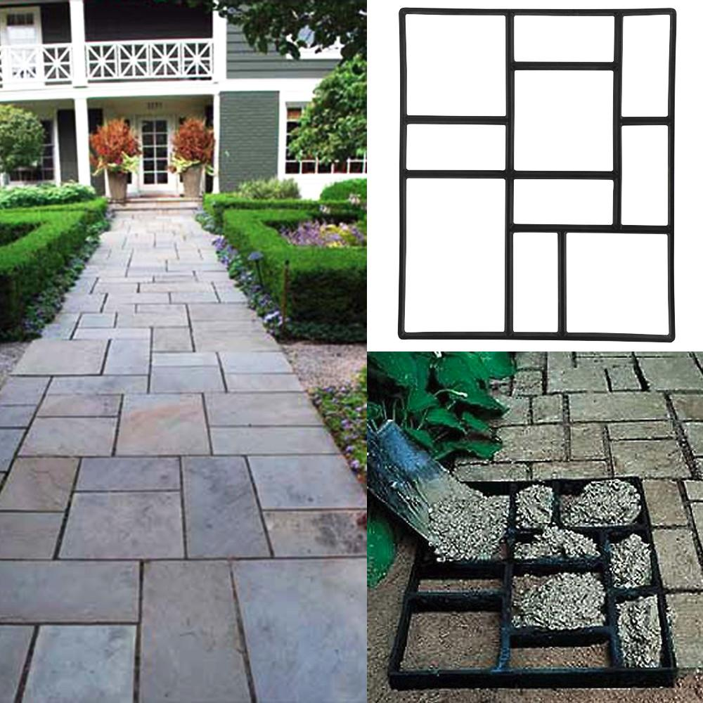 Exceptionnel Topeakmart Garden Concrete Paving Pathway Patio Path Brick Stepping Stone  Mould Black