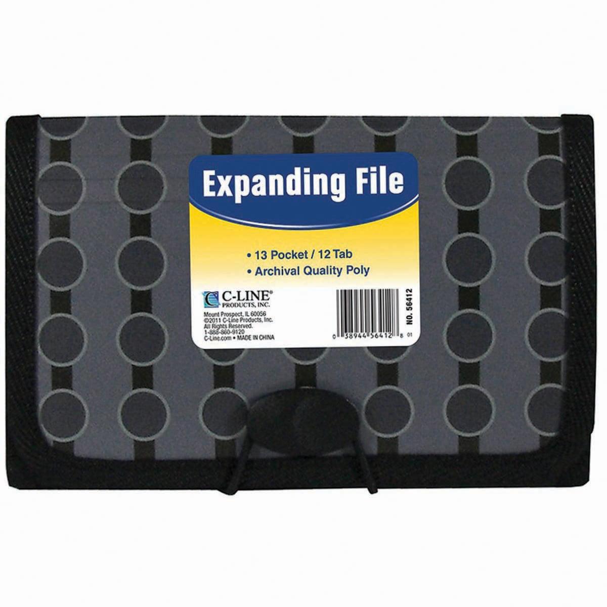 13-Pocket Coupon Expanding File Circles