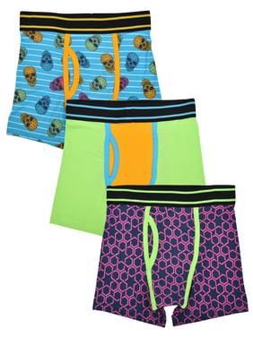 Wonder Nation Boys Fashion Underwear, 3 Pack Boxer Briefs (Little Boys & Big Boys)