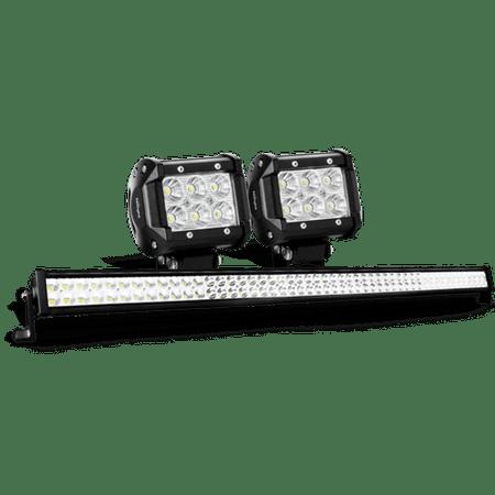 Nilight 52 Inch 300W Combo LED Light Bar, 2PCS 4 Inch 18W