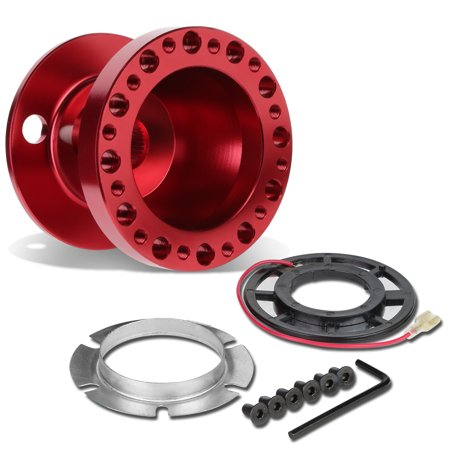 Aluminum Steering Wheel 6-Hole Hub Adaptor Kit (Red) - Miata / RX7 / RX8 / Protege (Miata Steering Wheel Hub)