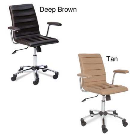 Favorite Finds Faux Leather Pleated Desk Chair Tan