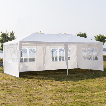 10'x 20' Canopy Tent with 4 Removable Sidewalls,Folding Instant Outdoor Gazebo Party Wedding Event Tent,Portable Waterproof UV Coated Shade