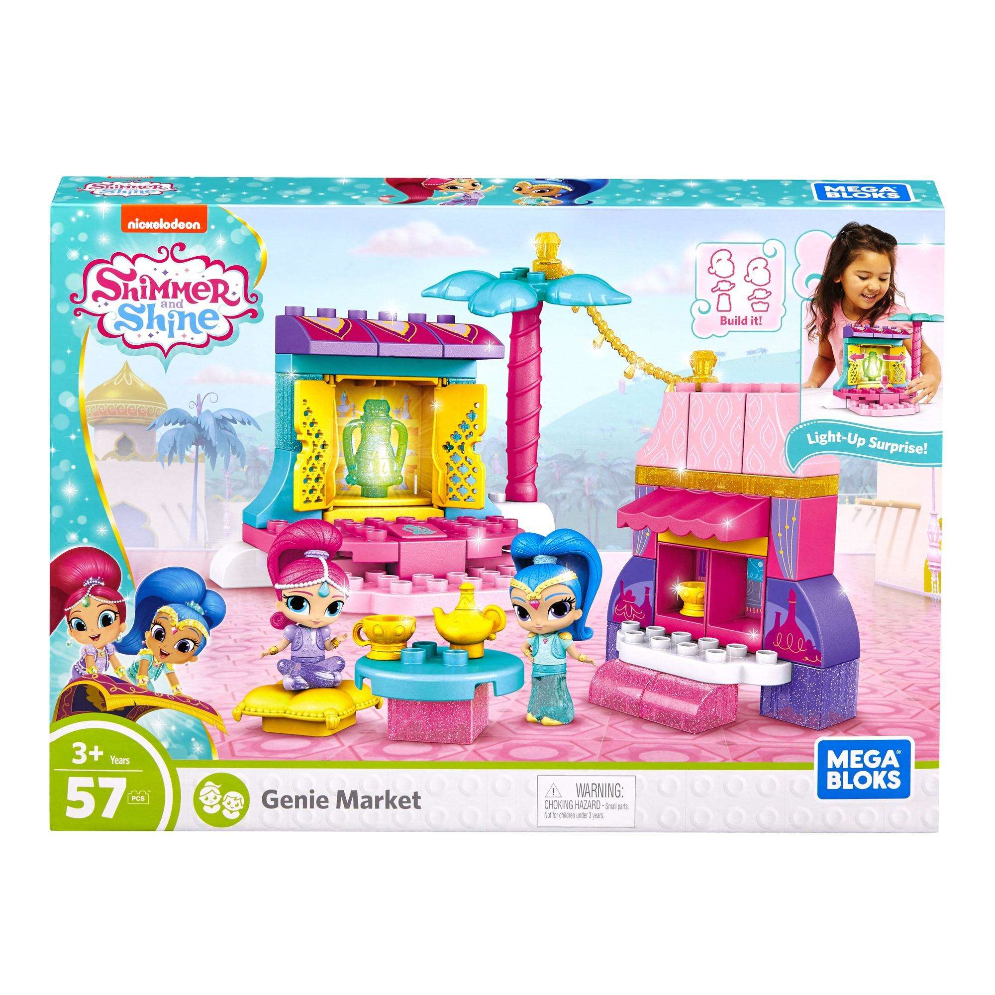 Mega Bloks Shimmer and Shine Genie Market Set
