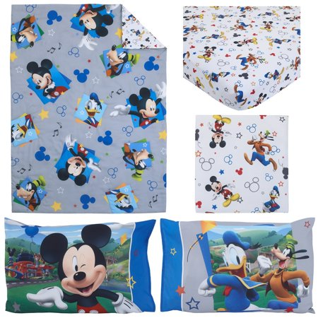 Disney Mickey Mouse Having Fun 4-Piece Toddler Bedding - Blossoms Toddler Bedding