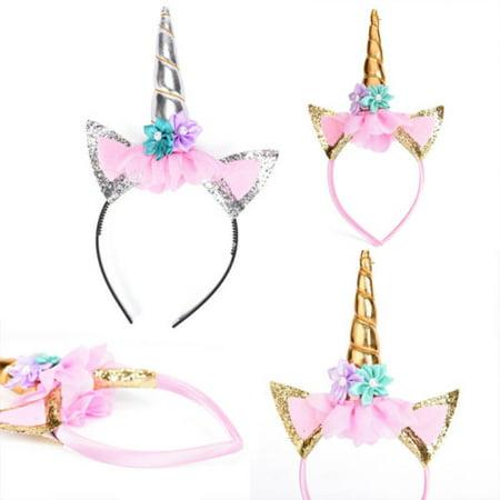 CosCosX Magical Unicorn Horn Head Party Hair Headband Fancy Dress Cosplay Decorative RS