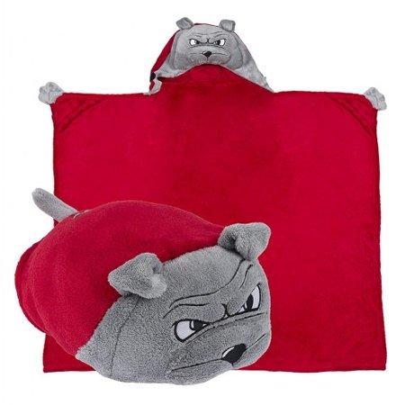 Bull Cotton Blanket - Comfy Critters Hooded College Blanket - Georgia Bull Dog