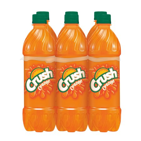 Crush Orange Soda, 0.5 L, 6 pack