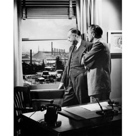Posterazzi SAL2556087 Side Profile of Two Businessmen Looking Through a Window Poster Print - 18 x 24 in. - image 1 de 1