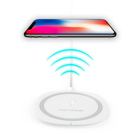 Wireless Charger for LG G2 (Receiver Needed) Wireless Quick Charger Fast Charge 10W for iPhone X, iPhone 8, iPhone 8 Plus,Samsung Note 8, S6 Edge +, S7, S7 Edge, S8 and S8 Plus, etc. by Ixir