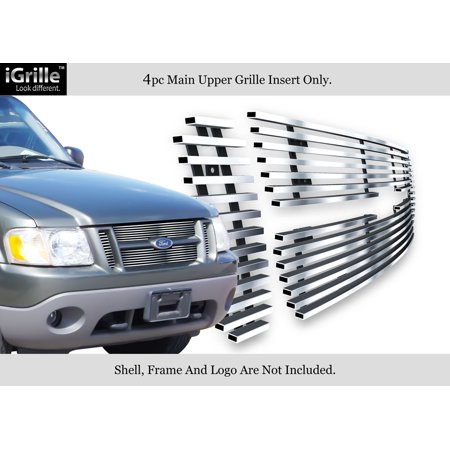 Compatible with 01-06 Ford Explorer Sport Trac Stainless Steel Billet Grille Insert F65323C