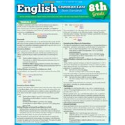 BarCharts 9781423217633 English Common Core 8Th Grade Quickstudy Easel