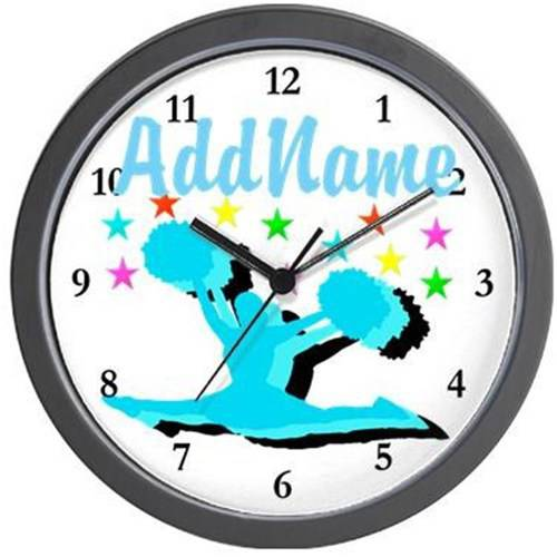 Cafepress Personalized Cheerleader 4ever Wall Clock