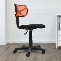 Techni Mobili Swivel, Adjustable Height Mesh Task Office Chair, Orange (RTA-M101-W-ORG)